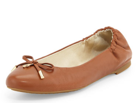 Melody Napa Leather Ballet Flat, Luggage