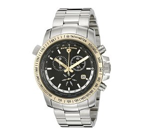Swiss Legend Men's 10013-11-GB World Timer Collection Chronograph Two-Tone Stainless Steel Watch