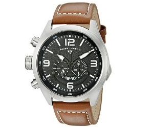 Swiss Legend Men's 10020-01-BRW Highlander Stainless Steel Watch