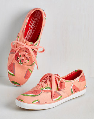 Fruits and Flatters Sneaker in Watermelon
