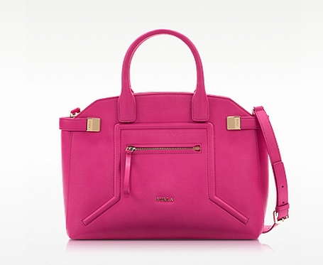 FURLA Medium Alice Pinky Leather Top handle Bag