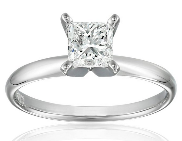 IGI Certified Platinum Princess-Cut Diamond Engagement Ring (1.0 cttw, H-I Color, SI1-SI2 Clarity)