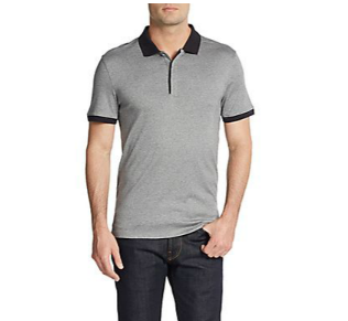 CK One Calvin Klein Contrast-Tipped Polo Shirt