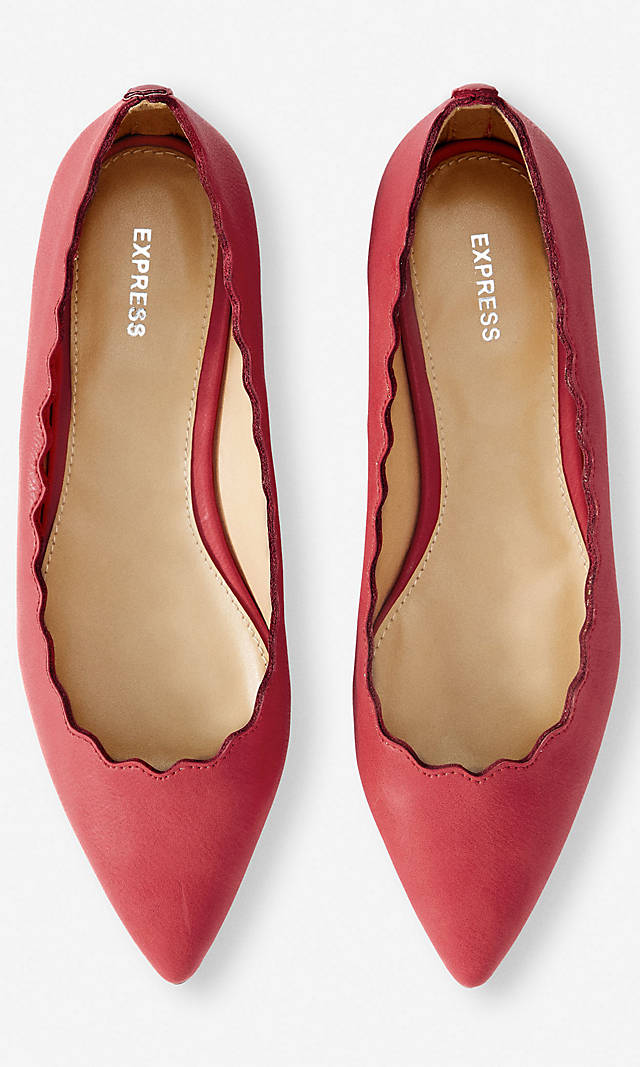 Scalloped Pointed Toe Flat
