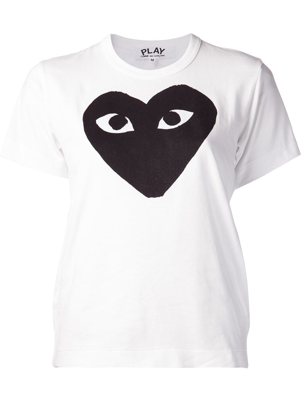 Comme Des Garcons Play Printed Heart T Shirt
