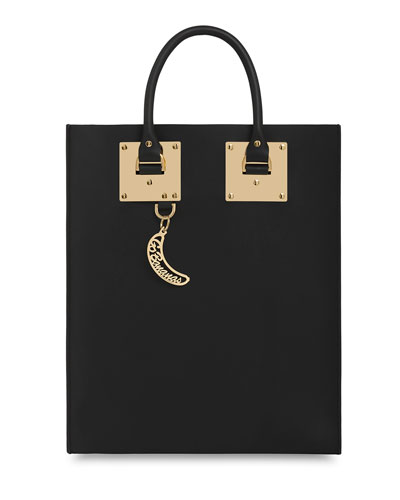 Sophie Hulme  Leather Tote Bag with Whistle Charm