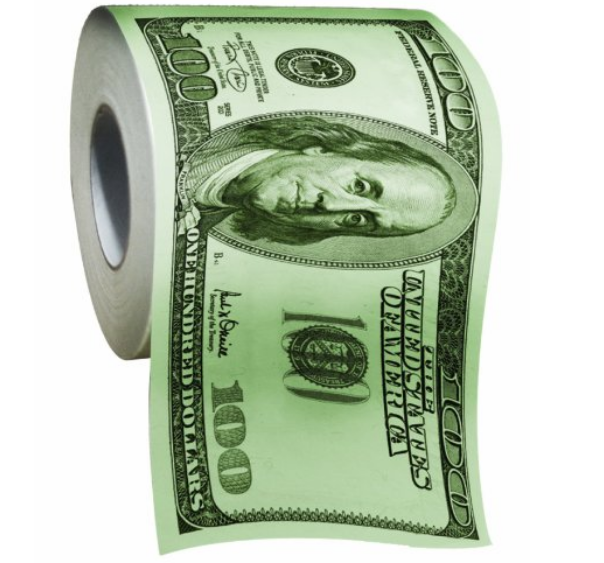 BigMouth Inc 100 Dollar Money Funny Toilet Paper