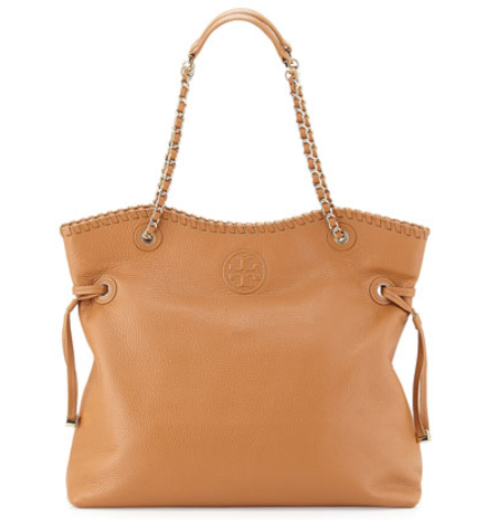 Tory Burch Marion Slouchy Tote Bag, Bark