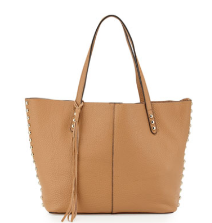 Rebecca Minkoff Pebbled Leather Unlined Tote Bag, Cuoio