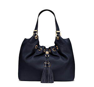 Camden Large Leather Drawstring Tote