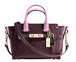 COACH Swagger Colorblock Leather Bag