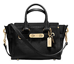 COACH Swagger Pebble Leather Carryall Bag
