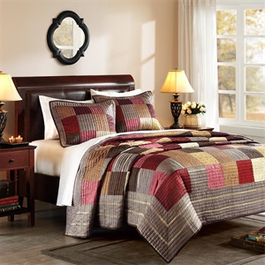 AVENUE 8 GLOBAL JACQUARD PIECED COVERLET