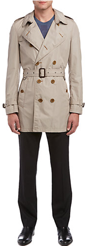Burberry Mid-Length Lightweight Trench Coat