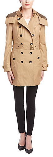 Burberry Hooded Warmer Trench Coat