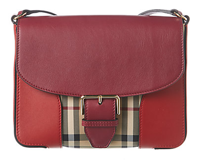 Burberry Small Horseferry Check & Leather Crossbody