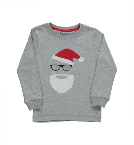 Santa Cool Long Sleeved Graphic Tee