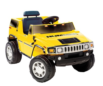 National Products Battery-Operated Yellow Single-Seater Hummer H2