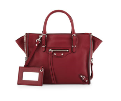 Balenciaga	 Papier A4 Mini Zip-Around Leather Tote Bag