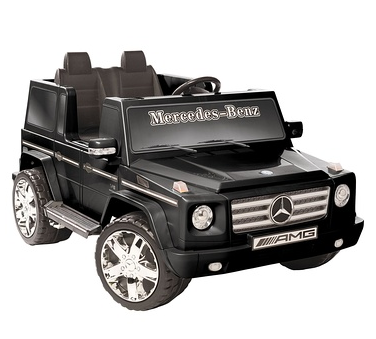 National Products LTD. Battery-Operated Black 2-Seater Mercedes Benz G55 AMG
