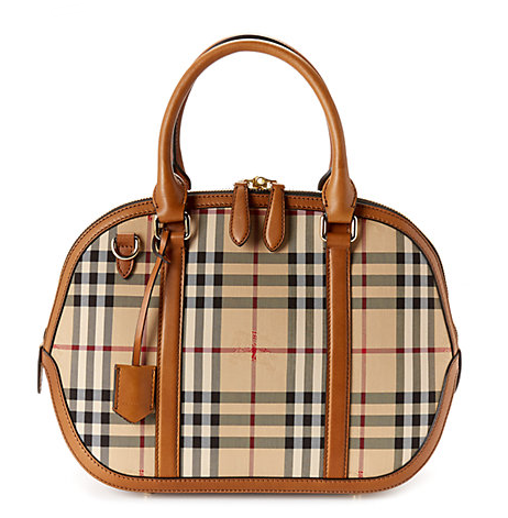 Burberry Orchard Small Leather & Sartorial Horseferry Check Bowler