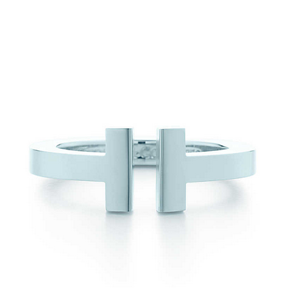 Tiffany T square ring in sterling silver. | Tiffany & Co.