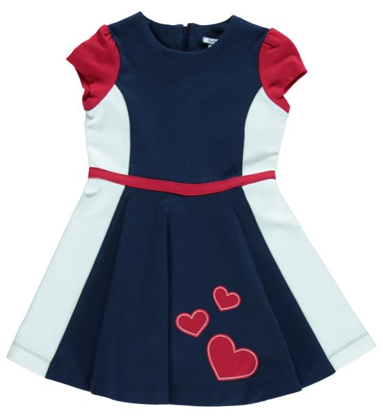 Triple Heart Knit Ponte Dress