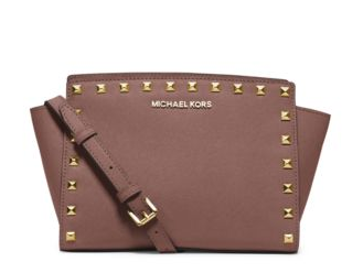 MICHAEL MICHAEL KORS  Selma Medium Studded Leather Messenger
