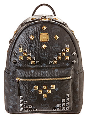 MCM Stark Small Canvas & Leather Backpack