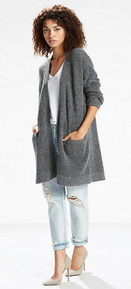 Long Mohair Cardigan   Icy Grey Heather  Levi's® United States (US)