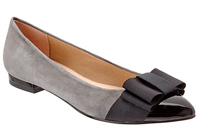 French Sole Eliza Suede & Patent Leather Ballet Fla