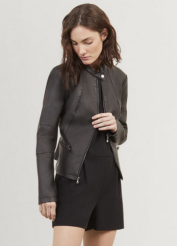 Solid Moto Jacket   Kenneth Cole