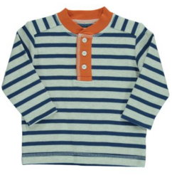 Infant Long Sleeved Neutral Striped Knit Top
