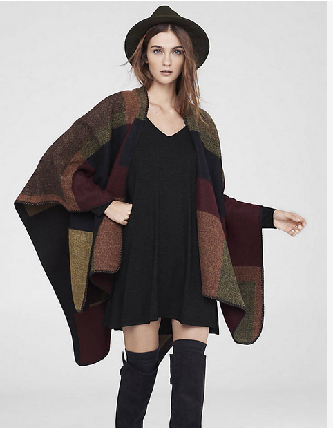 Color Block Blanket Cover-Up