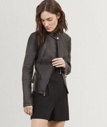 Kenneth Cole SOLID MOTO JACKET