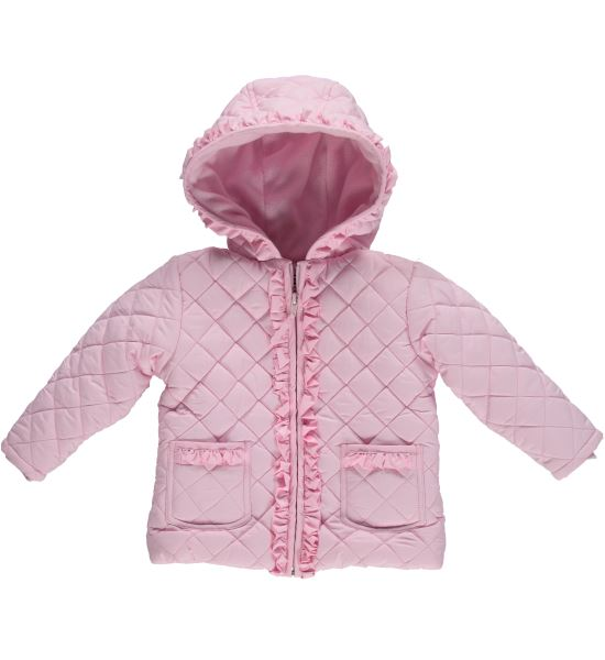 Infant Ruffled Quilted Jacket