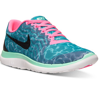 Nike Women's Free 4.0 V5 Print Running Sneakers from Finish Line