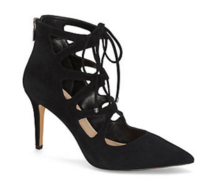 VINCE CAMUTO BODELL- LACE UP POINT TOE HEEL