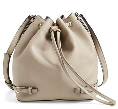 Tory Burch'Robinson' Saffiano Leather Bucket Bag