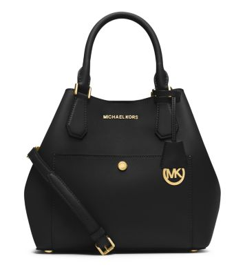 Greenwich Large Saffiano Leather Satchel | Michael Kors