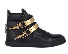 GIUSEPPE ZANOTTI Plated-Strap Double-Zip Sneakers
