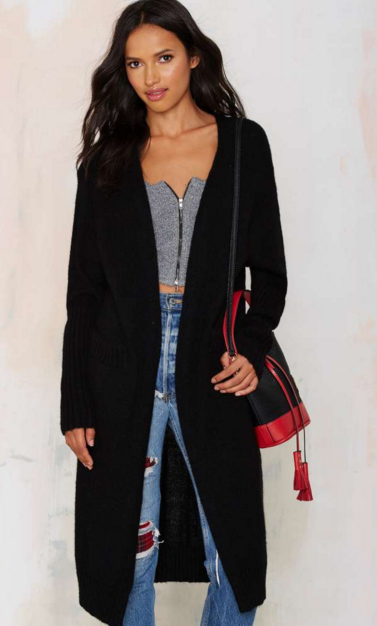 So Heated Duster Cardigan - Black   Shop Clothes at Nasty Gal!