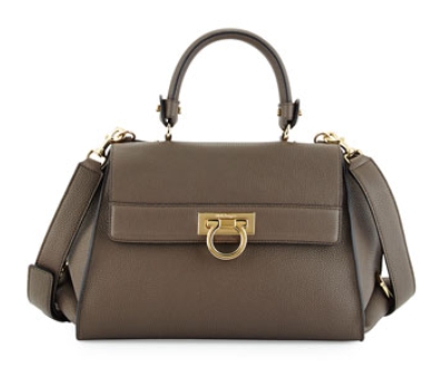Salvatore Ferragamo	 Sofia Medium Flap Satchel Bag