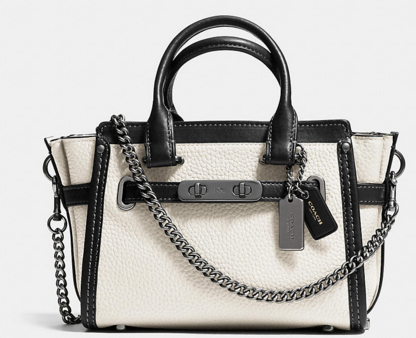 COACH Designer Handbags | Coach Swagger 20 With Chain In Pebble Leather