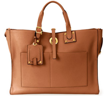 Valentino Eye on You Vitello Tote Bag, Tan