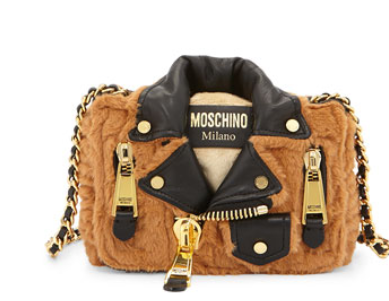 Moschino Jacket-Motif Large Shoulder Bag