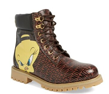 Moschino 'Looney Tunes - Tweety' Combat Boot (Women) | Nordstrom