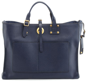 Valentino Eye on You Tote Vitello Tote Bag, Blue