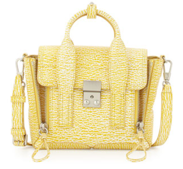 3.1 Phillip Lim Pashli Mini Leather Satchel Bag, Ivory/Mimosa