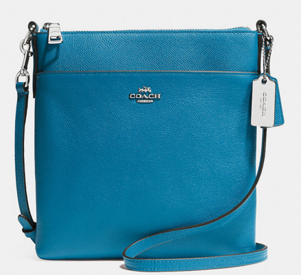 COACH Designer Crossbody | North/South Swingpack In Embossed Textured Leather
